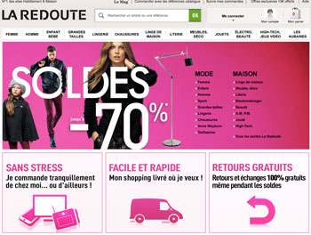 la redoute soldes et code promo 2013 livraison gratuite. Black Bedroom Furniture Sets. Home Design Ideas