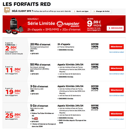 code promo sfr red reduction forfait serie red 2015. Black Bedroom Furniture Sets. Home Design Ideas